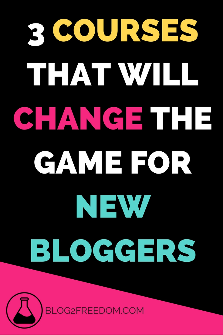 These 3 courses are awesome for new bloggers. 3 bloggers share exactly what they've learned to get where they are and how you can get their too! Less than $100 each which is fantastic these days!.