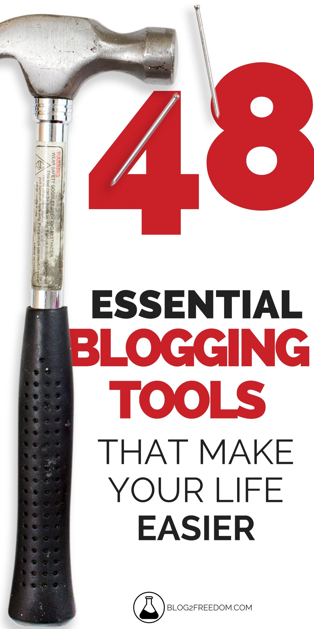 48 Essential blogging tools to make your life easier. These tools help you fight blogger overwhelm by taking some of the work off your plate!