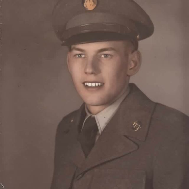 Grandpa who snuck in underage and who took a bullet at 18. I'm sorry I never got to meet you. I'm also sorry that what you saw in the war staid with you so long. We remember.