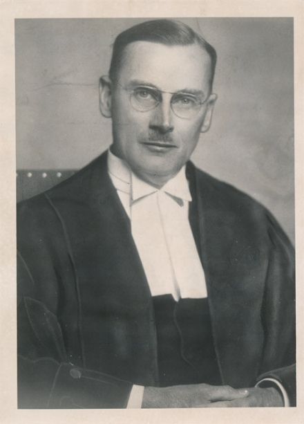 "Lawyer, author, commissioner, and justice ""Hanging Jim"" (aka ""Vinegar Jim"") McRuer. He stands out as the tough, demanding judge who presided over the 1962 trial of Arthur Lucas, one of the last 2 men ever hanged in Canada.   Photo courtesy of Law Society of Upper Canada Archives"