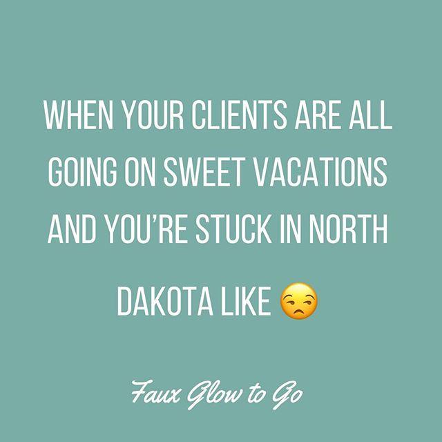 I've had an Arizona, Florida, and two Mexicos this week! Just jealous Janet over here... #fauxglowtogo #fargo #spraytanning #spraytanningfargo #mobilespraytan #fargo #gimmesomesun