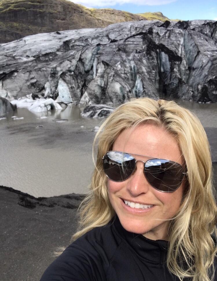 At the Sólheimajökull Glacier in Iceland