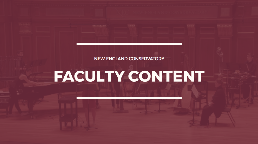 Restructure faculty content in NEC website. -