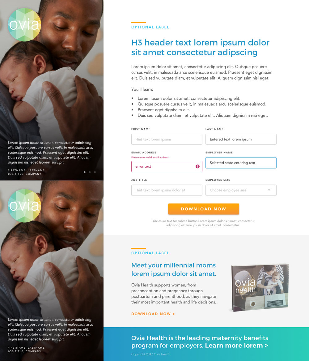 Ovia Health - Lead Generation Templates
