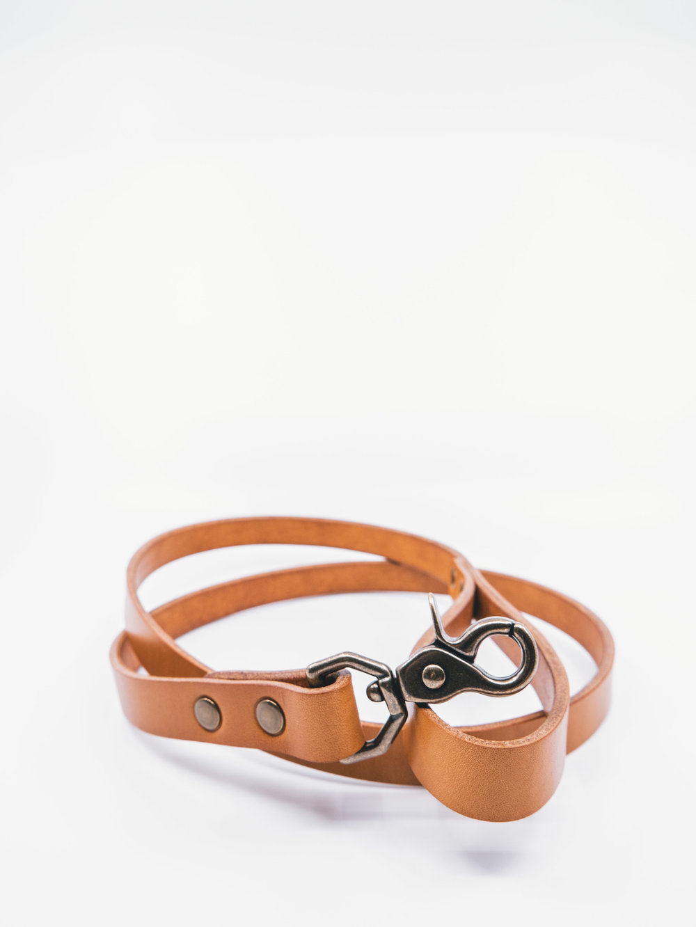 Brown Leather Dog Leash - English Tan and Antique Brass-22.jpg