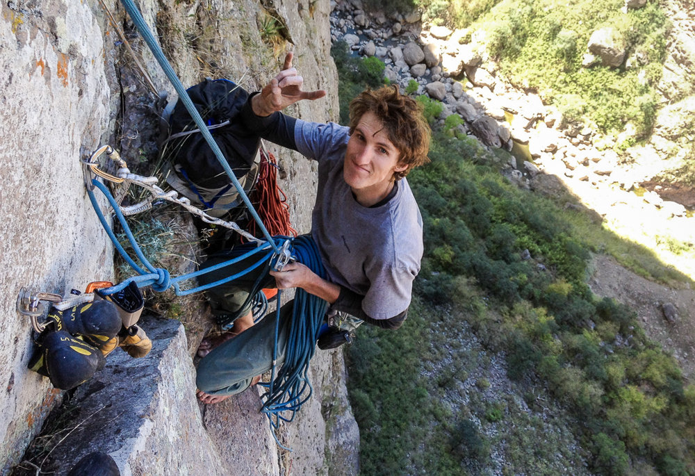 Hayden belaying whilst on Logical Progression (28/5.13a) in Mexico. Hayden wrote an incredibly reflective piece on climbing, adventure, death and relationships after this trip. (Source: eveningsends.com