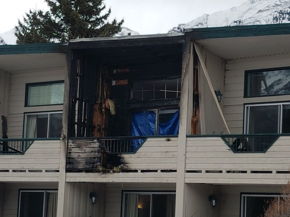 Thankfully the fire was contained to the balcony of room 29.