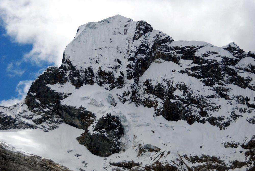 The Southwest face of Churup (5,495m) Source: Ari's Base Camp