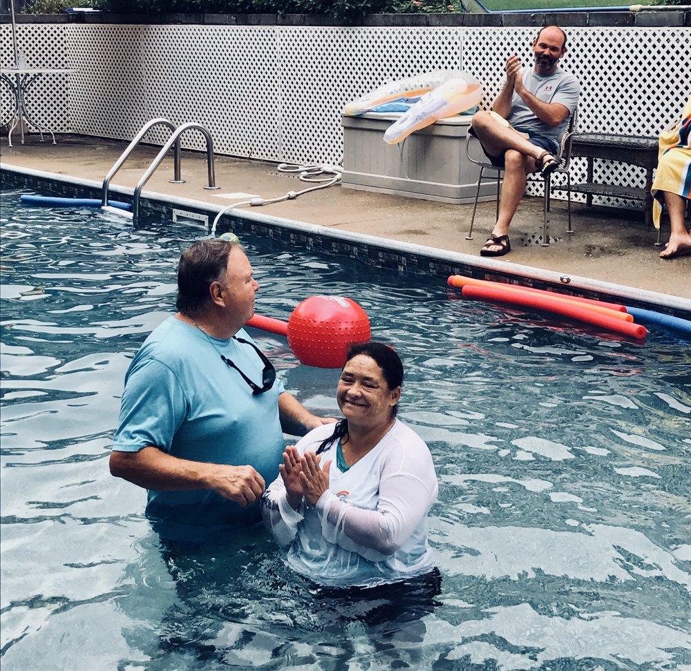 Donna Copeland was baptized.