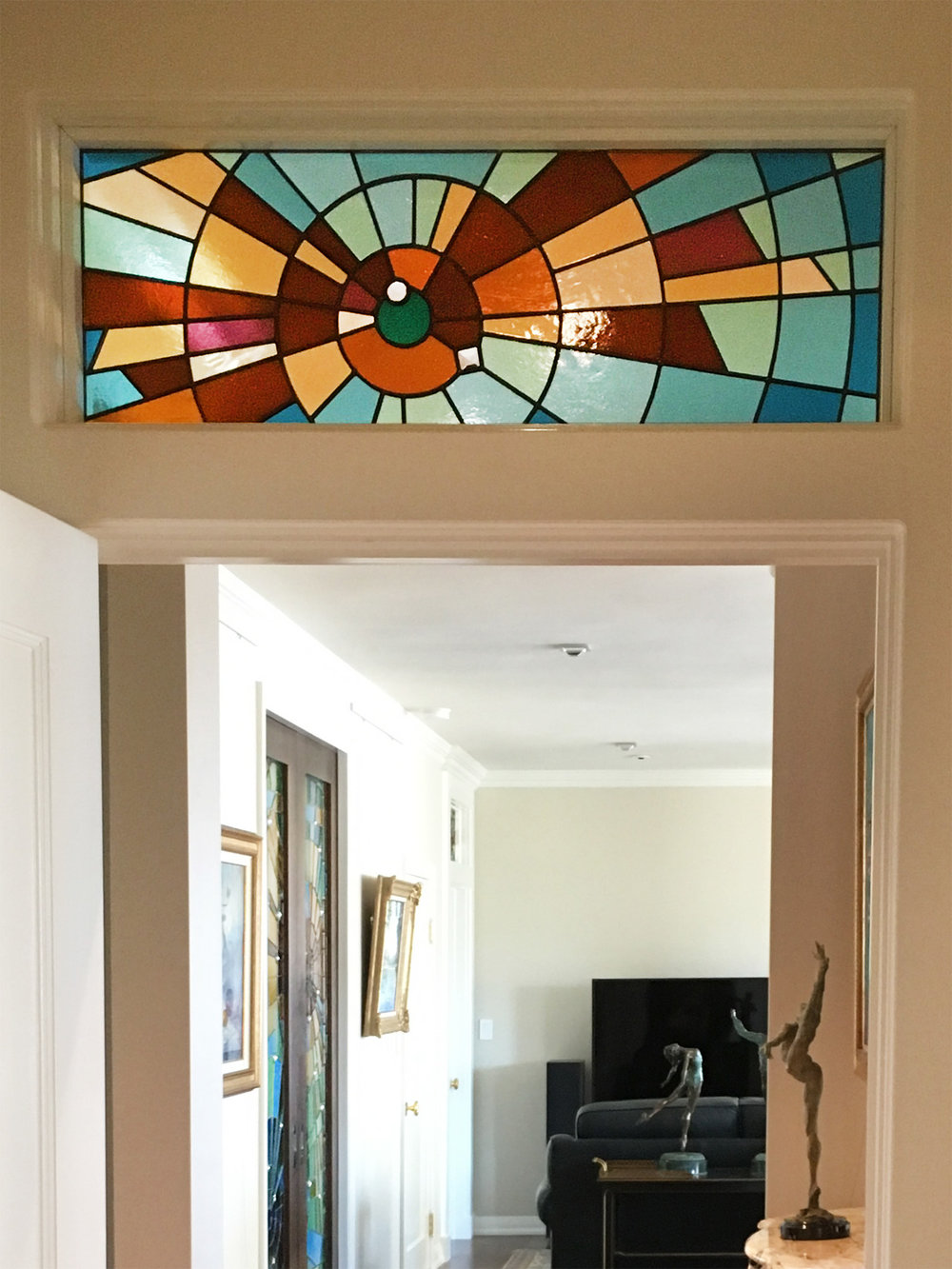 abstract stained glass bird flight wings palo alto atherton menlo park san jose san francisco bay area legacy glass.jpg