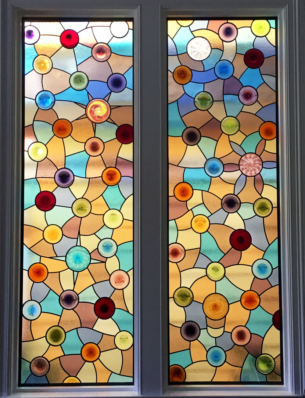 abstract stained glass custom rondels palo alto atherton menlo park san jose san francisco bay area legacy glass.jpg