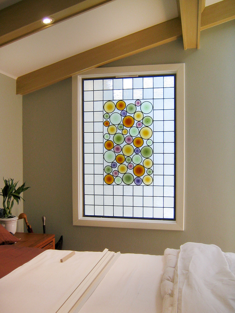 rondel bottleglass abstract stained glass art palo alto atherton menlo park san jose san francisco bay area.jpg