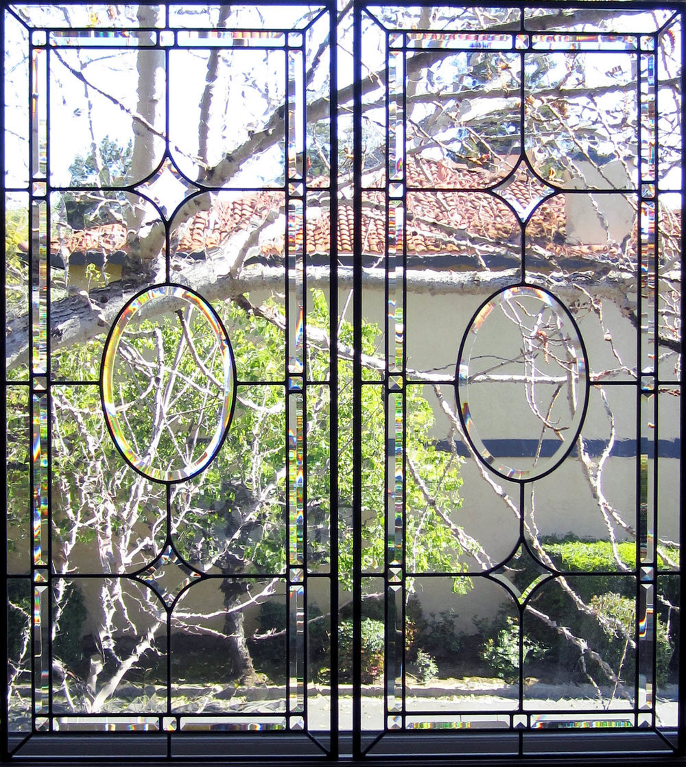 pencil bevel beveled leaded glass stained glass window palo alto atherton california san francisco.jpg