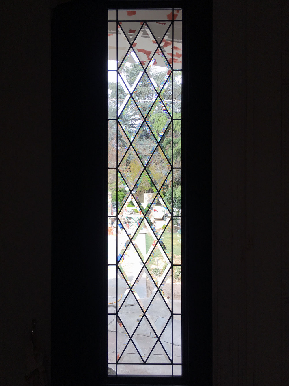 beveled leaded glass stained glass sidelight window palo alto atherton california san francisco.jpg