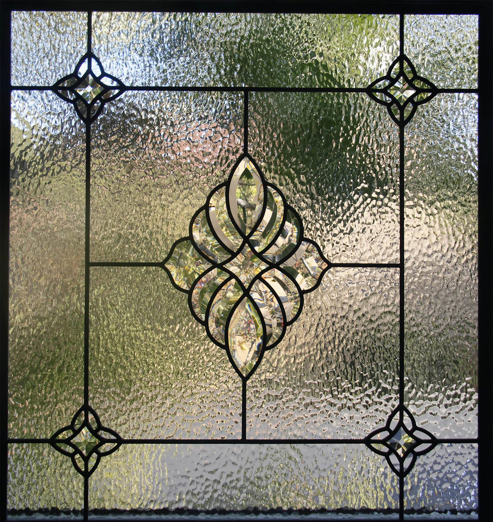 bevel cluster hammered glass clear texture beveled leaded glass stained glass window palo alto atherton california san francisco.jpg