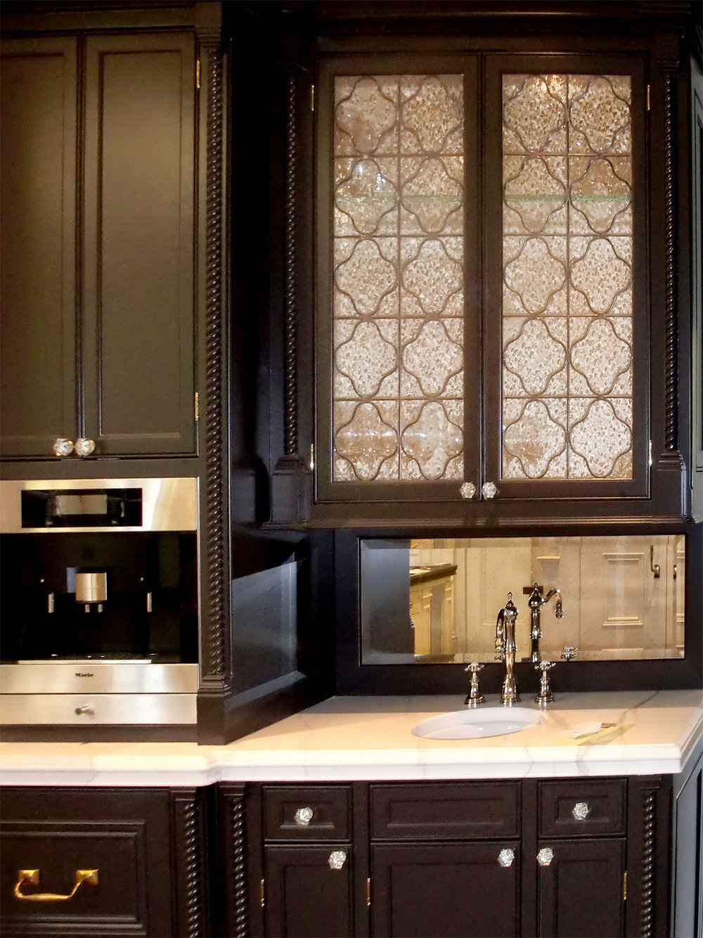 traditional clear texture leaded glass stained glass cabinet door palo alto atherton california san francisco san jose legacy glass.jpg