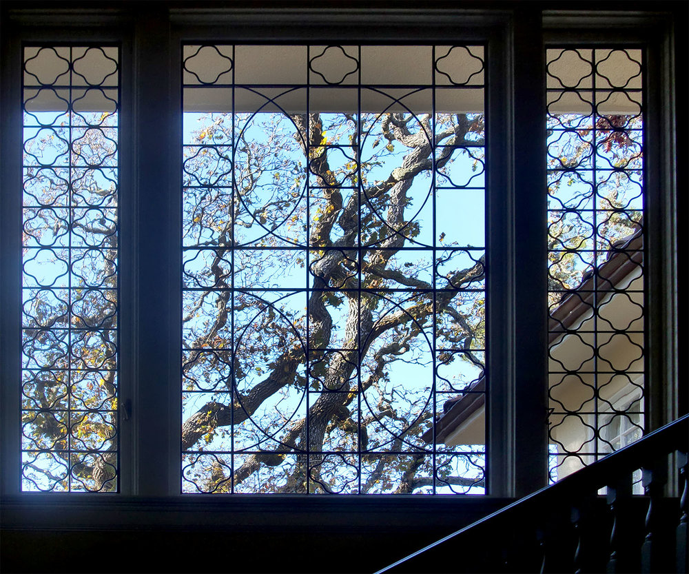 traditional clear texture leaded glass stained glass window palo alto atherton california san francisco san jose legacy glass.jpg
