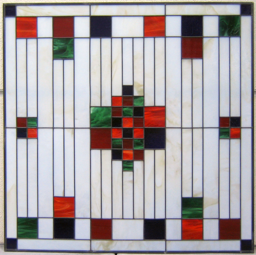art deco geometric opaque glass craftsman leaded glass stained glass window palo alto atherton california san francisco san jose.jpg