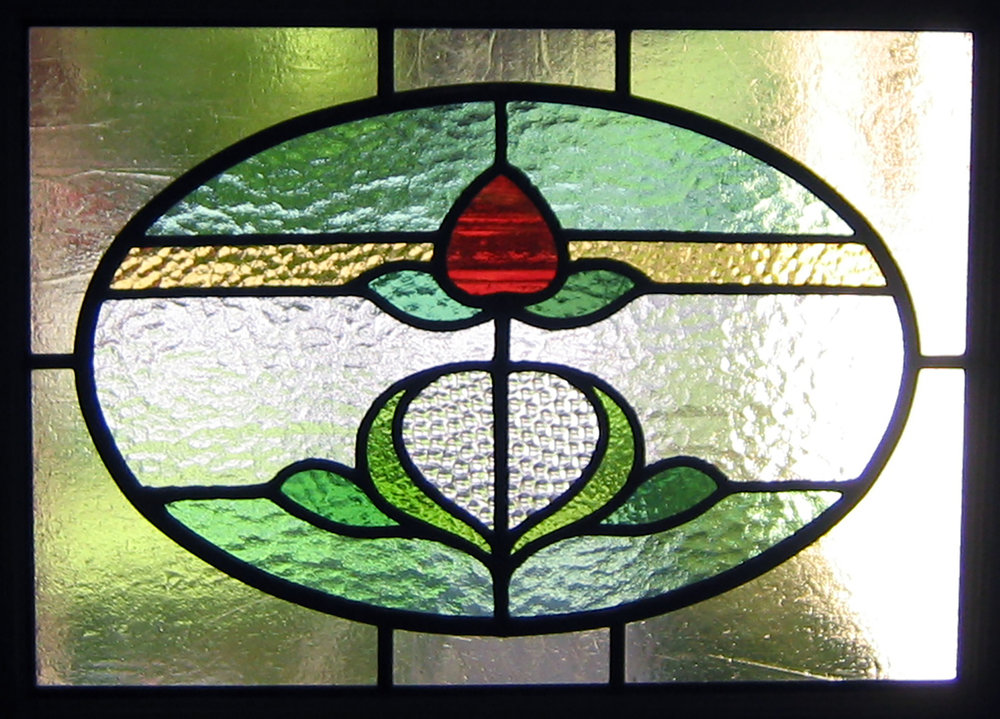floral flower rough rolled clear texture glass craftsman leaded glass stained glass window palo alto atherton california san francisco san jose.jpg