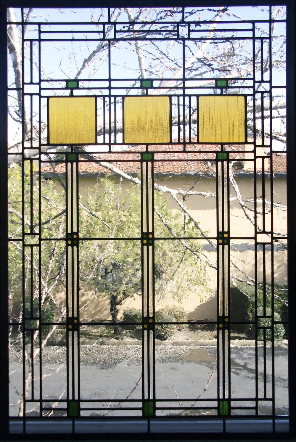 geometric craftsman leaded glass stained glass window palo alto atherton california san francisco san jose.jpg