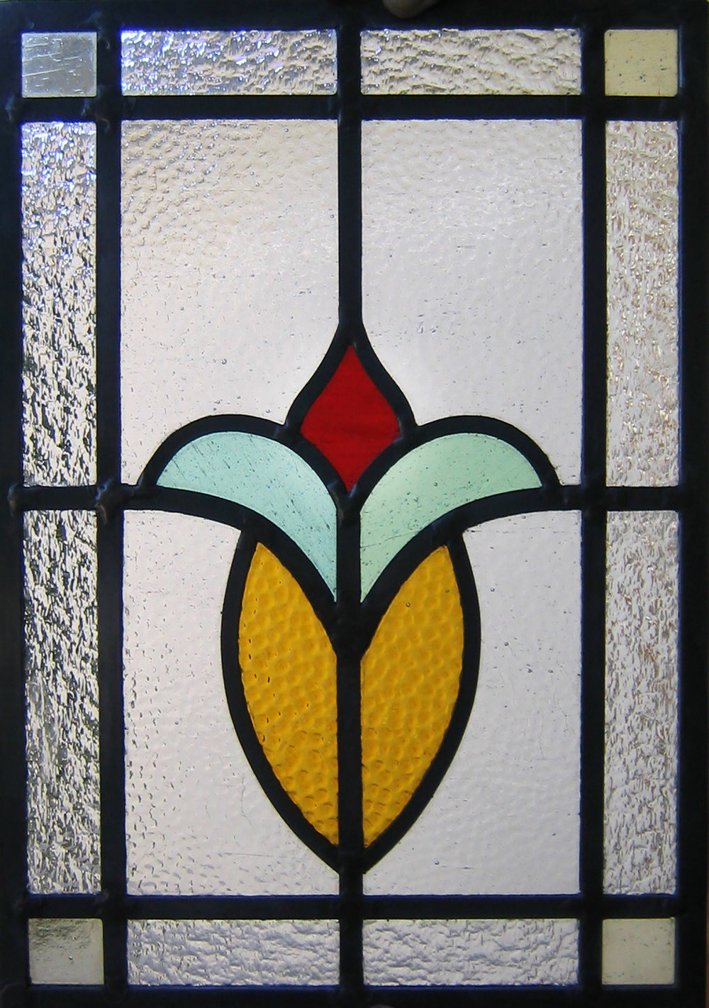 kokomo hammered glass granite clear texture flower floral craftsman leaded glass stained glass window palo alto atherton california san francisco san jose.jpg