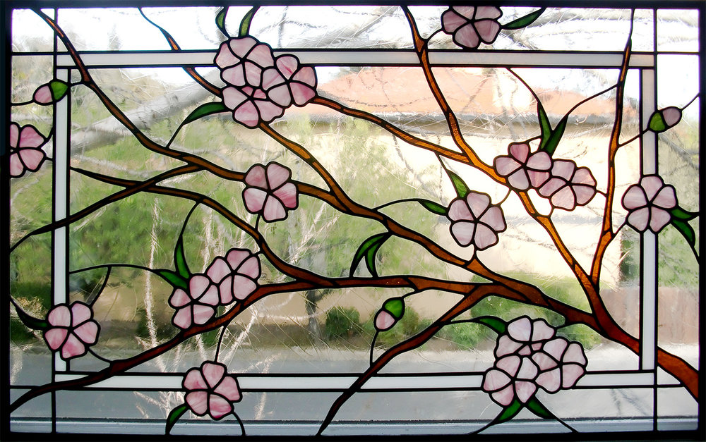 flower floral dogwood clear texture leaded glass stained glass studio palo alto atherton california san francisco san jose legacy glass.jpg