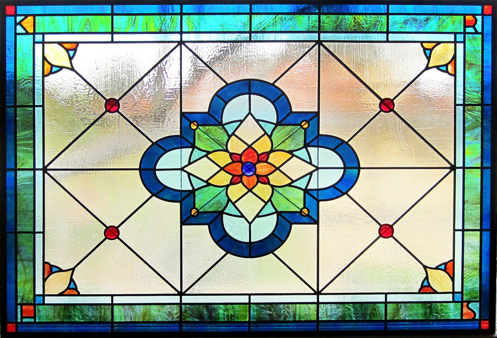traditional spanish quatrefoil leaded glass stained glass studio palo alto atherton california san francisco san jose legacy glass2.jpg