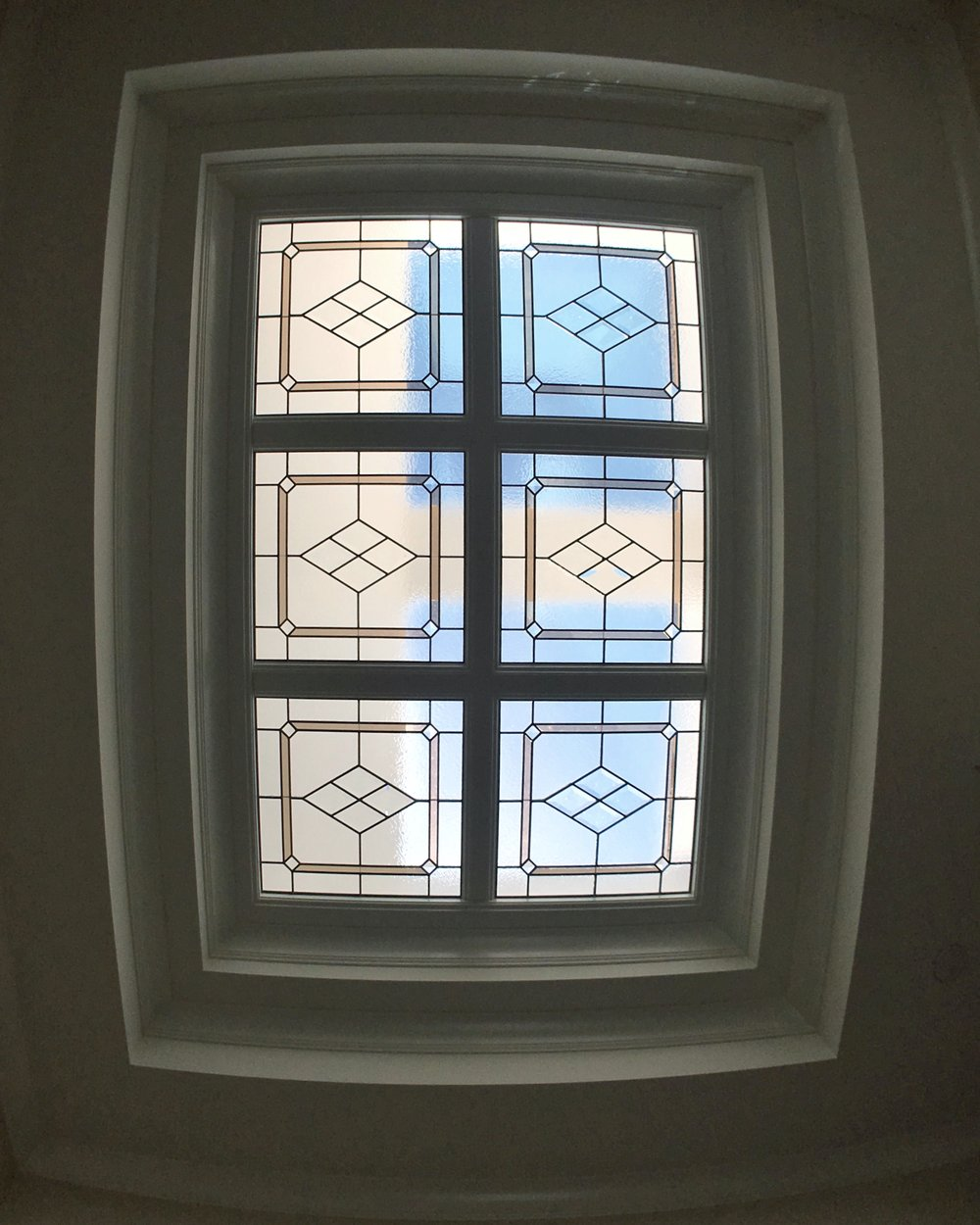 bevel cluster diamond leaded glass stained glass skylight clear textured glass palo alto atherton menlo park san jose san francisco bay area legacy glass.JPG