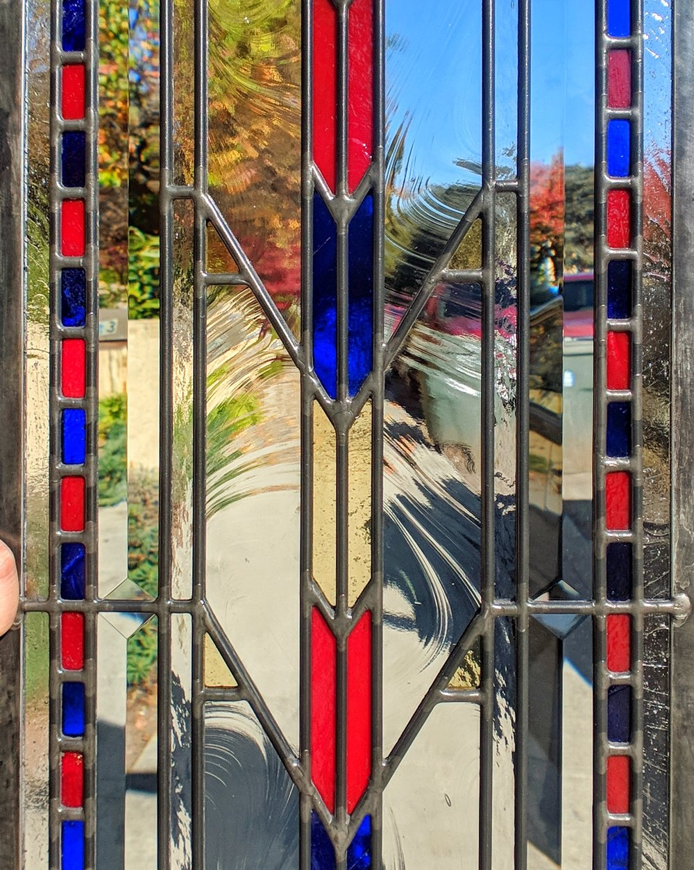 stained glass leaded glass design legacy glass studios menlo park bay area california custom design modern craftsman frank lloyd wright baroque seedy bevels prism rough rolled cathedral glass.JPG