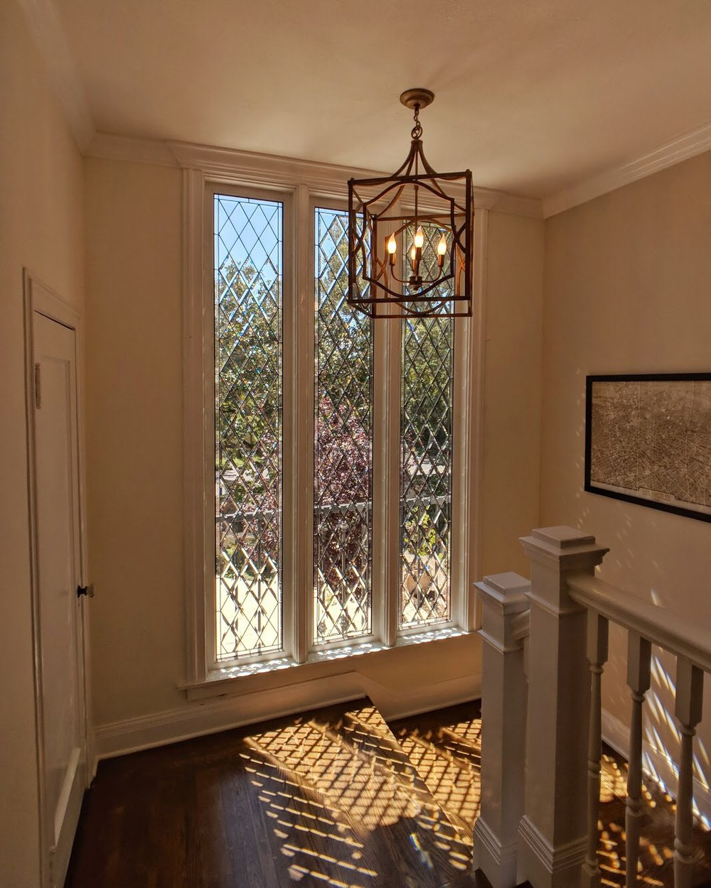 stained glass leaded glass design legacy glass studios menlo park bay area california custom design beveled diamonds seedy glass light refraction beveled glass elegant high end home light pattern.JPG