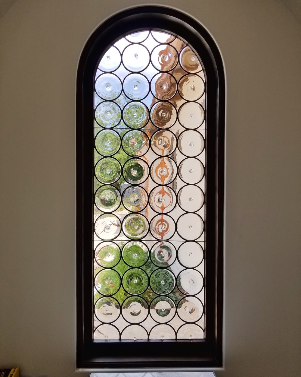 custom stained glass leaded glass rondel design legacy glass studios menlo park bay area california custom design installed tuscan home diffused.jpg