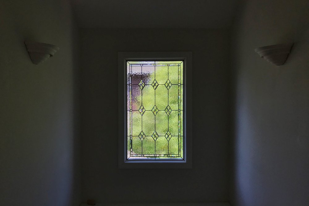 leaded glass stained glass custom design california legacy glass studios beveled glass diamond border waterglass window.jpg