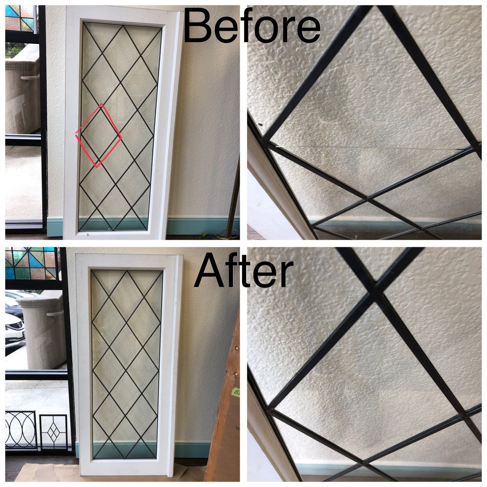 leaded glass stained glass art glass bay area custom design legacy glass studios repair restoration sash plain clear glass diamonds quick fix broken.JPG