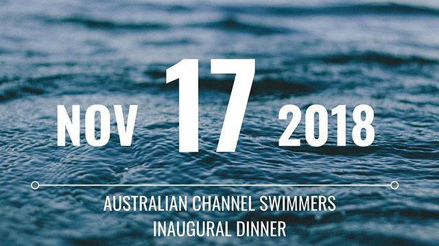 Today I've launched the inaugural Australian Channel Swimmer's dinner, to be held in Sydney. Check out the Facebook event for ticket details https://www.facebook.com/events/290161418398296/