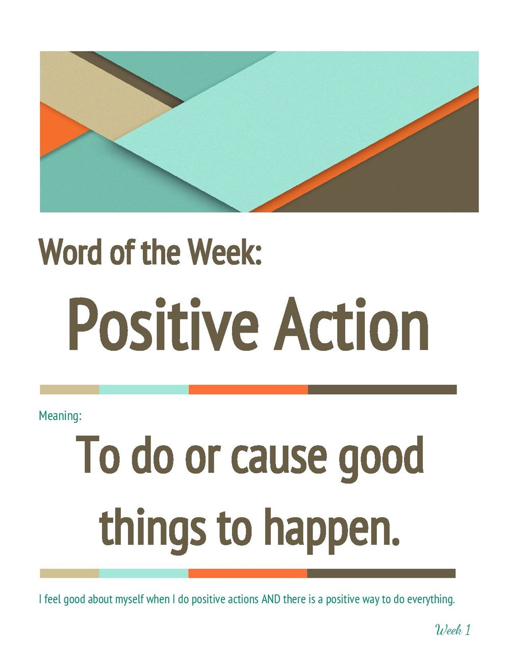 positive action words
