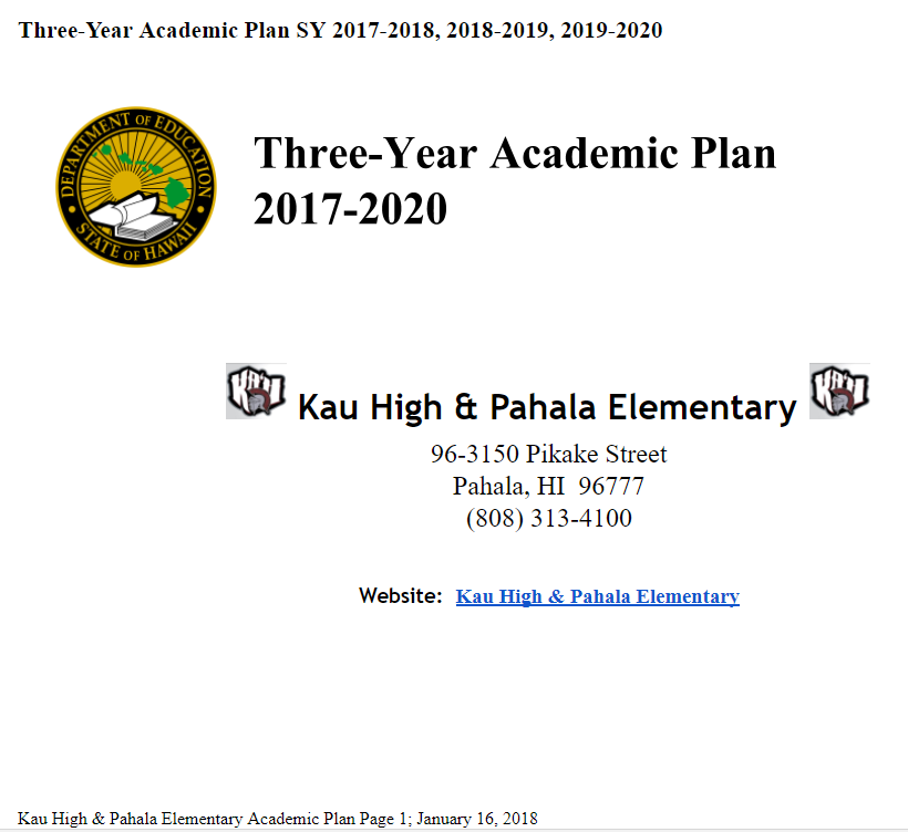 KHPES Academic Plan
