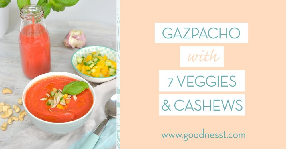 Recipe-7-veggies-gazpaccho-raw-soup- raw-recipe - goodnesst - amelie van der aa
