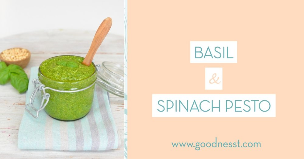 basil and spinach pesto - homemade pesto - recipe - goodnesst - amelie van der aa
