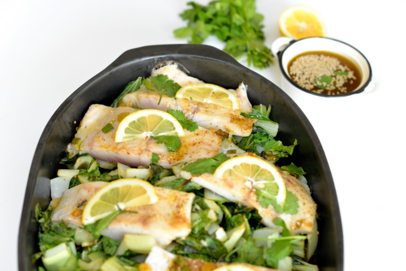 red snapper - family dish - fish for kids - paleo family- recipe- bok choy - goodnesst - amelie van der aa