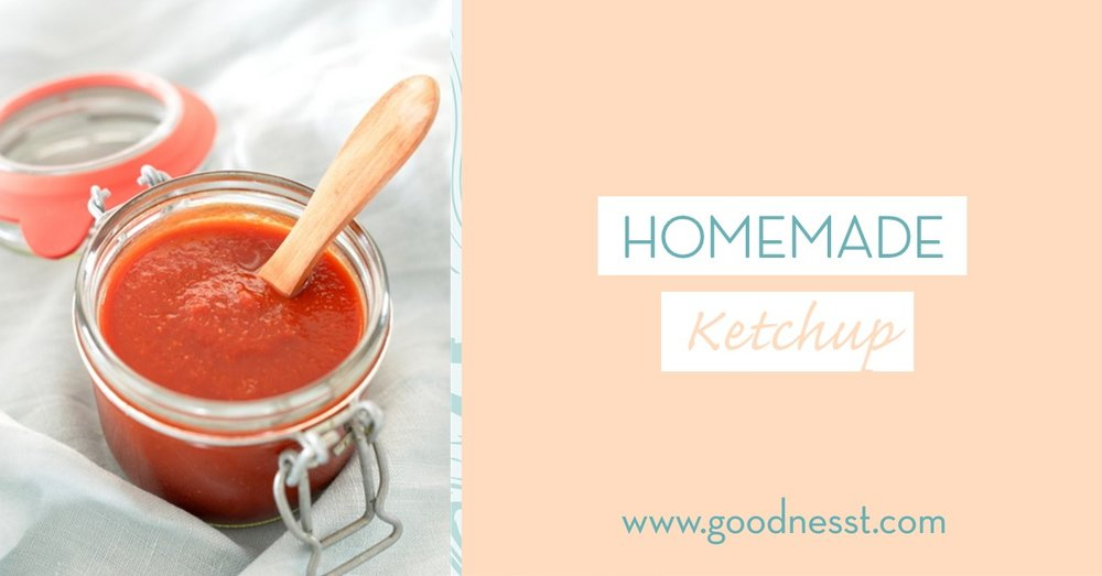 goodnesst - recipe - ketchup - homemade ketchup - Healthy ketchup - recipe - amelie van der aa