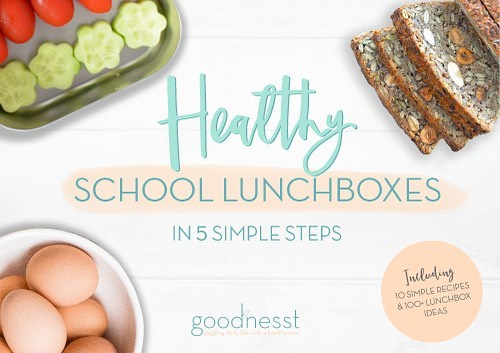 Happy to present my new ebook!  It's for you if you struggle to pack your kids healthy lunchboxes, if you're lacking inspiration or if you're getting half eaten lunchboxes back.  It includes 10 recipes and a cheat sheet with 100+ lunchbox ingredients to stick on your fridge and pick from day after day!  Download link in bio 👉🏻. #schoollunch #schoollunchideas #schoollunchbox #schoollunchboxideas #healthylunchideas #healthyschoollunch #healthyschoollunches #healthyschoollunchbox #freeebook #freeebookdownload #healthymom #healthymoms #healthykidsfood #healthykids #healthykidslunch #nutrition #nutritionist #nutritioncoach #mygoodnesst #goodnesst