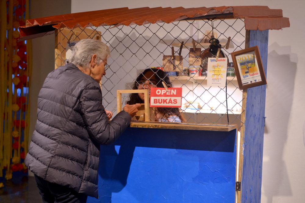 Documentation from opening reception of The Berkeley Biennial (2018) show by Johany Huinac De Leon.
