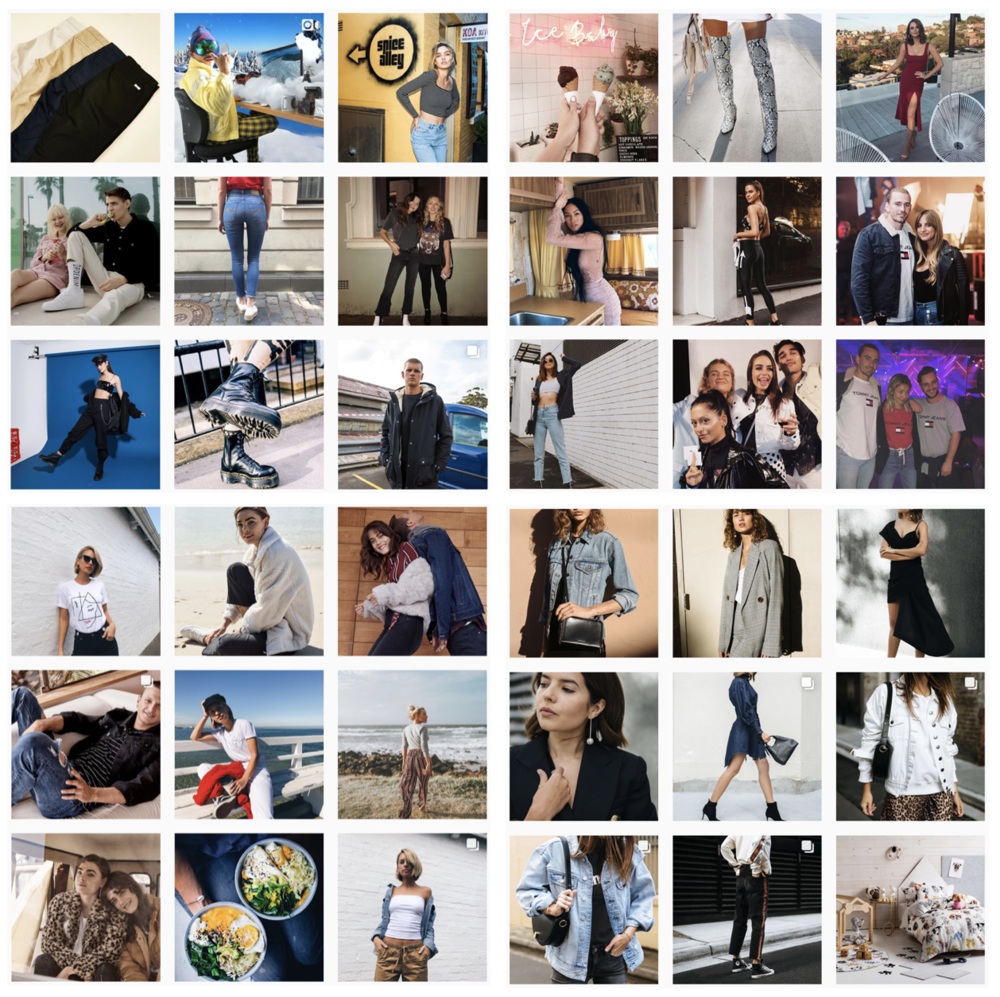 Myer, Cotton On, General Pants, The Iconic Instagram snippets are indistinguishable