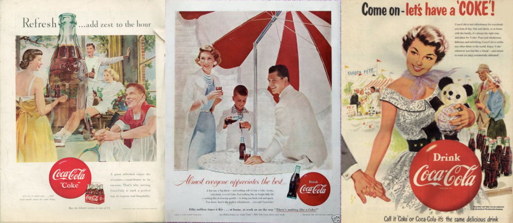 coca cola old advertising campaign