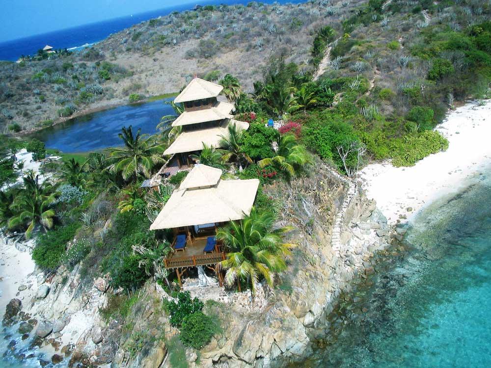The Necker Island Bali Houses.