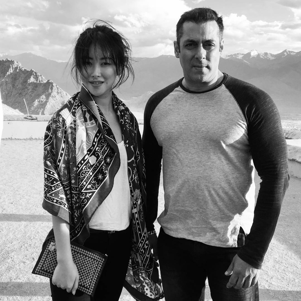 Zhu Zhu and Salman Khan in Ladakh