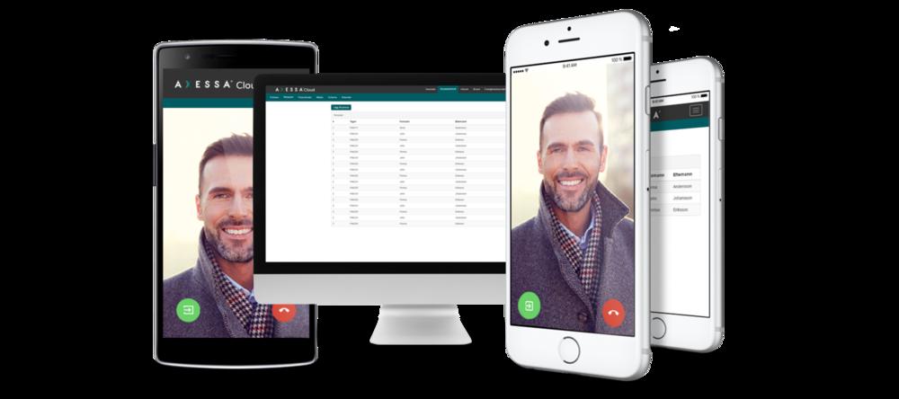 Axessa Cloud administrationsmjukvara för passage, porttelefoni samt informationshanteringssystem