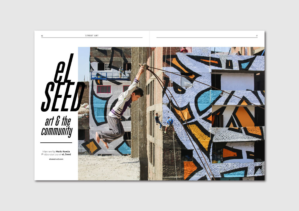 eL Seed, Art & the Community:  French-Tunisian street artist and his large-scale work in Cairo