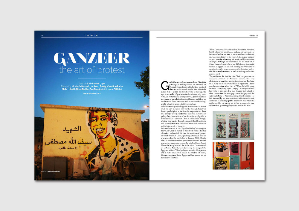 Ganzeer: getting to know the Egyptian street artist, designer and activist