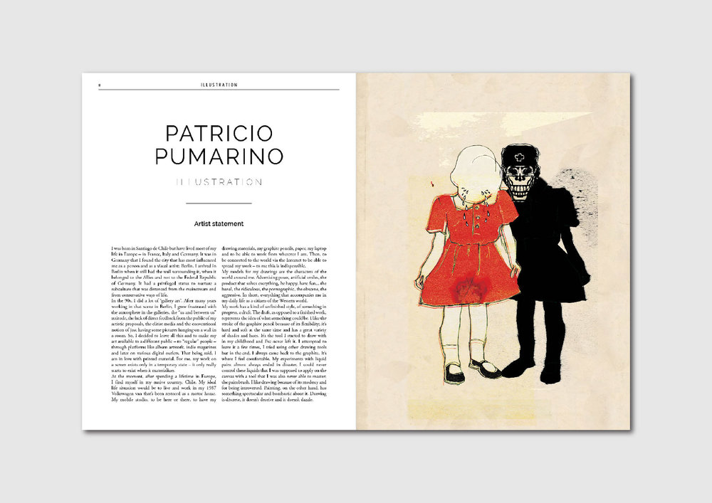 Patricio Pumarino: artist statement and works by the Chilean artist